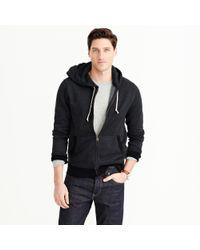 J.Crew - Black Full-zip Hoodie for Men - Lyst
