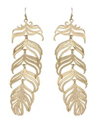 Kendra Scott | Metallic Large Feather Earrings | Lyst