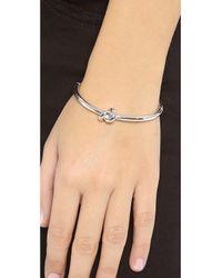 kate spade new york - Metallic Sailor's Knot Bangle Bracelet - Lyst