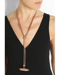 Eddie Borgo | Pink Lariat Rose Gold-Plated Necklace | Lyst