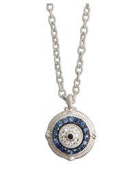 Judith Ripka - Blue Sapphire 'Evil Eye' Pendant Necklace - Lyst
