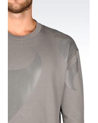 Emporio Armani - Gray Cotton Sweatshirt for Men - Lyst