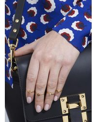 MFP MariaFrancescaPepe | Metallic Love 23Kt Gold Plated Nail Rings - Set Of Four | Lyst