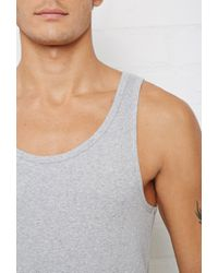 Forever 21 - Gray Bread And Boxers Ribbed Tank for Men - Lyst