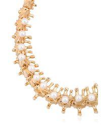 Schield | Metallic Backbone Necklace | Lyst