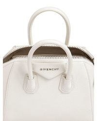 Givenchy - White Mini Antigona Grained Leather Top Handle - Lyst