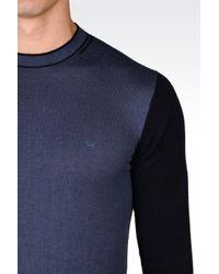 Armani Jeans   Blue Jumper In Cotton Blend for Men   Lyst