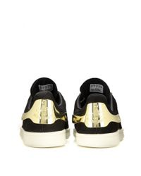 Adidas - Black Stan Smith Embellished Suede Sneakers - Lyst