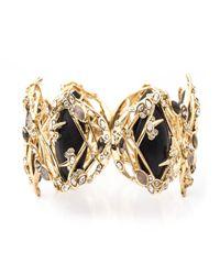Alexis Bittar - Black Imperial Crystal Lace Link Hinged Bracelet - Lyst