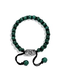 David Yurman | Green Spiritual Beads Two-row Bracelet, 6mm for Men | Lyst