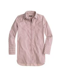 J.Crew - Red Endless Shirt In Stripe - Lyst
