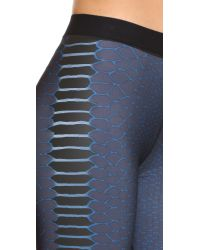 Ultracor - Blue Cobra Print Leggings - Teal - Lyst