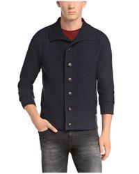 BOSS Orange | Blue Cardigan 'kamaren' In Knitwear for Men | Lyst