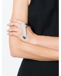 Vibe Harsløf - Metallic Vibe Harsløf Chevron Hand Bracelet - Lyst