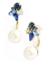 Kate Spade | Blue 'dainty Sparklers' Drop Back Earrings | Lyst