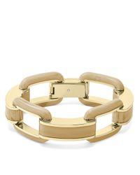 Michael Kors - Metallic Goldtone Horn Status Link Bracelet - Lyst