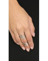 House of Harlow 1960 - Metallic Caral Culture Ring Set - Silver - Lyst