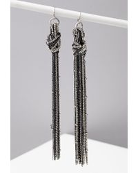 Forever 21 | Metallic Knotted Chain Drop Earrings | Lyst