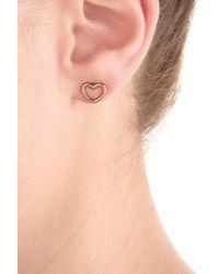 Marc By Marc Jacobs | Metallic Heart Earrings - Gold | Lyst