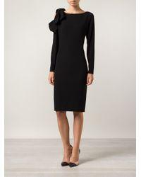 Paule Ka - Black Fitted Dress - Lyst