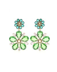 Dolce & Gabbana | Multicolor Embellished Clip-On Earrings | Lyst