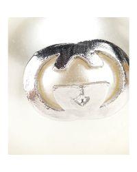 Gucci | Metallic Clip-On Faux Pearl Earrings | Lyst
