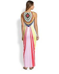 Mara Hoffman - Pink Rays Jersey Fitted Maxi Dress - Lyst