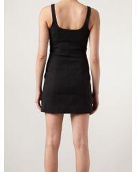 T By Alexander Wang - Black Zip Detail Mini Dress - Lyst