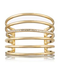 Lynn Ban | Metallic 14-Karat Gold Diamond Cuff | Lyst