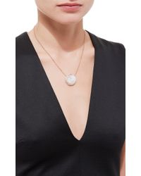 Jacquie Aiche - White Graduated Diamond Crescent And Round Moonstone Necklace - Lyst