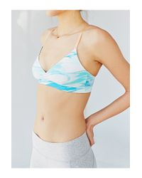 Without Walls - Blue Marble Hot Yoga Bra - Lyst