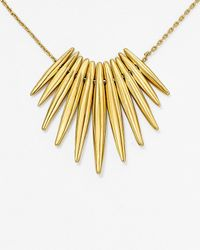 "Michael Kors | Metallic Tribal Pendant Necklace, 16"" | Lyst"