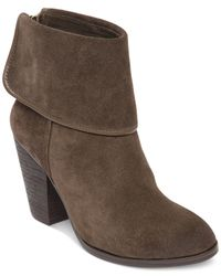 Vince Camuto | Natural Hamilton Fold Over Booties | Lyst