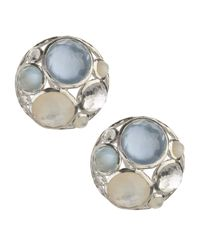 Ippolita | Blue Wonderland Cluster Button Earrings | Lyst