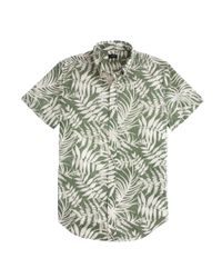 J.Crew | Green Secret Wash Short-sleeve Shirt In Fern Print for Men | Lyst