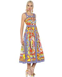 Dolce & Gabbana | Multicolor Pasticceria Printed Cotton Poplin Dress | Lyst