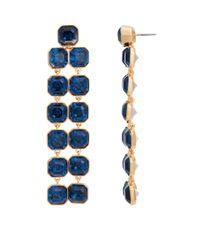 Henri Bendel | Blue Windsor Geo Chandelier Earrings | Lyst
