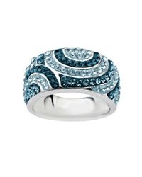 Lord & Taylor | Sterling Silver Multi-colored Blue Crystal Ring | Lyst