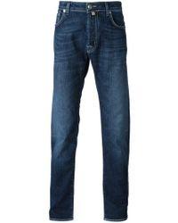 Jacob Cohen | Blue Stone Wash Straight Leg Jeans for Men | Lyst