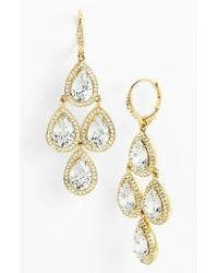 Nadri | Metallic Cubic Zirconia Chandelier Earrings (nordstrom Exclusive) | Lyst