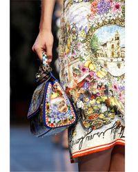 Dolce & Gabbana - Multicolor Medium Sicily Sicilia Print Leather Bag - Lyst