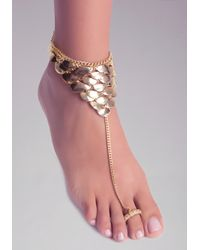 Bebe - Metallic Half Moon Foot Jewelry - Lyst