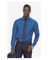 Express | Blue Modern Fit Iridescent 1mx Shirt for Men | Lyst