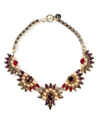 Anton Heunis | Multicolor Crystal Embellished Necklace | Lyst