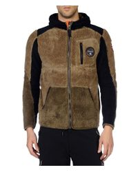 Napapijri | Brown Zip Fleece for Men | Lyst
