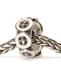 Trollbeads - Metallic Buttons Silver Charm Bead - Lyst