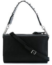 McQ - Black Vail Studded-Leather Shoulder Bag  - Lyst