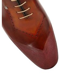 Harris - Brown Handmade Leather Shoes With Stitching for Men - Lyst