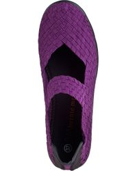 Bernie Mev - Purple Lulia Wedge Plum Fabric - Lyst