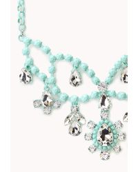 Forever 21 - Green Sweet Elegance Bib Necklace - Lyst